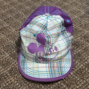 Purple and Plaid Mickey Mouse Hat